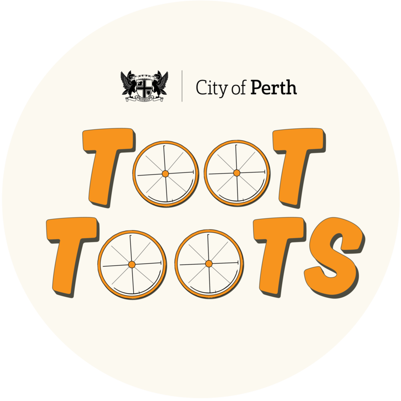 Scaled city of perth toot toots logo
